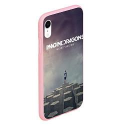 Чехол iPhone XR матовый Imagine Dragons: Night Visions цвета 3D-баблгам — фото 2