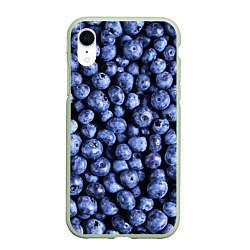 Чехол iPhone XR матовый Черника цвета 3D-салатовый — фото 1