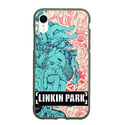 Чехол iPhone XR матовый Linkin Park: Sky Girl цвета 3D-темно-зеленый — фото 1