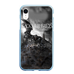 Чехол iPhone XR матовый Black Veil Brides: Faithless цвета 3D-голубой — фото 1