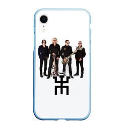 Чехол iPhone XR матовый Группа Пикник