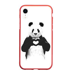 Чехол iPhone XR матовый Panda Love