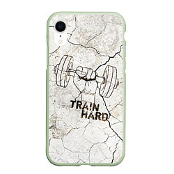 Чехол iPhone XR матовый Train hard