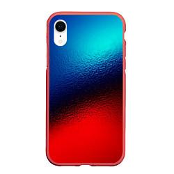 Чехол iPhone XR матовый Синий и красный