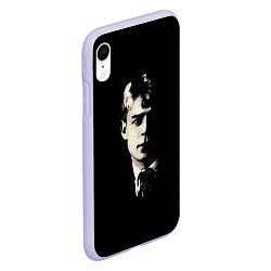 Чехол iPhone XR матовый Есенин Ч/Б цвета 3D-светло-сиреневый — фото 2