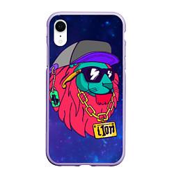 Чехол iPhone XR матовый Лев SWAG