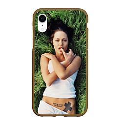 Чехол iPhone XR матовый Анджелина Джоли