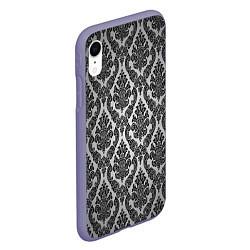 Чехол iPhone XR матовый Гламурный узор цвета 3D-серый — фото 2