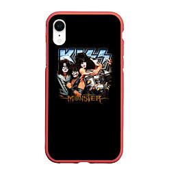Чехол iPhone XR матовый Kiss Monster