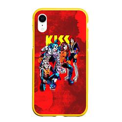 Чехол iPhone XR матовый KISS: Hot Blood цвета 3D-желтый — фото 1