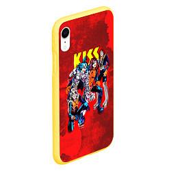 Чехол iPhone XR матовый KISS: Hot Blood цвета 3D-желтый — фото 2