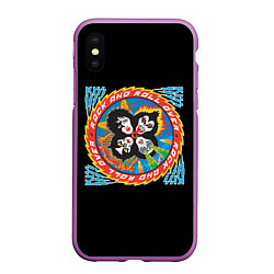 Чехол iPhone XS Max матовый KISS: Over цвета 3D-фиолетовый — фото 1