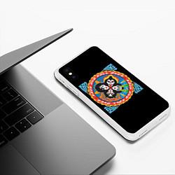 Чехол iPhone XS Max матовый KISS: Over цвета 3D-белый — фото 2