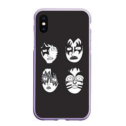 Чехол iPhone XS Max матовый KISS Mask цвета 3D-светло-сиреневый — фото 1