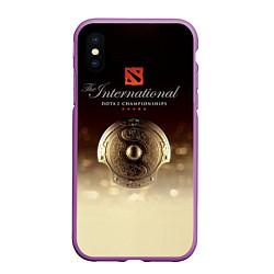 Чехол iPhone XS Max матовый The International Championships цвета 3D-фиолетовый — фото 1