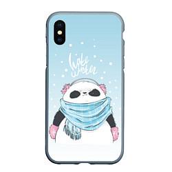 Чехол iPhone XS Max матовый Hate Winter цвета 3D-серый — фото 1