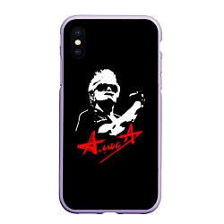 Чехол iPhone XS Max матовый АлисА цвета 3D-светло-сиреневый — фото 1