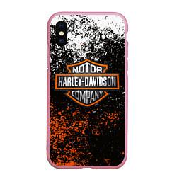 Чехол iPhone XS Max матовый HARLEY DAVIDSON цвета 3D-розовый — фото 1