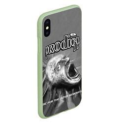 Чехол iPhone XS Max матовый The Prodigy: Madness цвета 3D-салатовый — фото 2