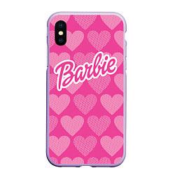 Чехол iPhone XS Max матовый Barbie цвета 3D-светло-сиреневый — фото 1