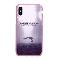 Чехол iPhone XS Max матовый Imagine Dragons: Silence цвета 3D-розовый — фото 1