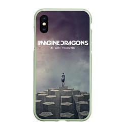 Чехол iPhone XS Max матовый Imagine Dragons: Night Visions цвета 3D-салатовый — фото 1