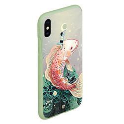 Чехол iPhone XS Max матовый Рыба цвета 3D-салатовый — фото 2