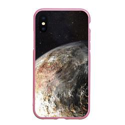Чехол iPhone XS Max матовый Плутон цвета 3D-розовый — фото 1