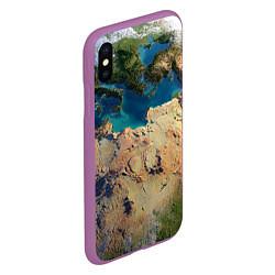Чехол iPhone XS Max матовый Земля цвета 3D-фиолетовый — фото 2