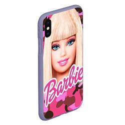 Чехол iPhone XS Max матовый Барби цвета 3D-серый — фото 2