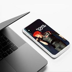 Чехол iPhone XS Max матовый Gerard Way цвета 3D-белый — фото 2