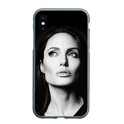 Чехол iPhone XS Max матовый Mono Jolie цвета 3D-серый — фото 1