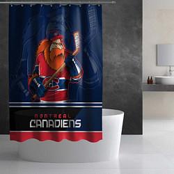 Шторка для душа Montreal Canadiens цвета 3D — фото 2