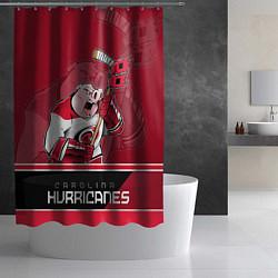 Шторка для душа Carolina Hurricanes цвета 3D-принт — фото 2