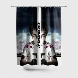 Шторка для душа OOMPH! цвета 3D-принт — фото 1