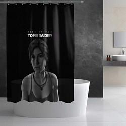Шторка для душа Rise if The Tomb Raider цвета 3D-принт — фото 2