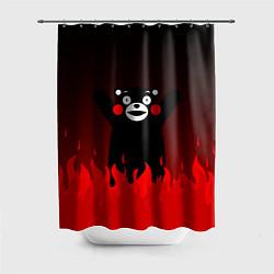 Шторка для душа Kumamon: Hell Flame цвета 3D-принт — фото 1