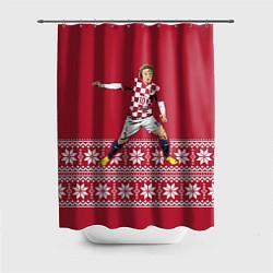Шторка для душа Luka Modric цвета 3D-принт — фото 1