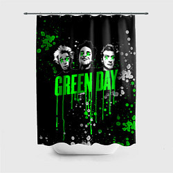 Шторка для душа Green Day: Acid Colour цвета 3D — фото 1