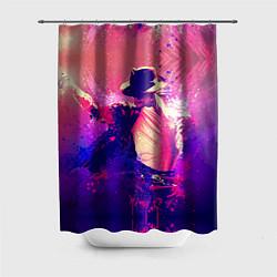 Шторка для душа Michael Jackson: Moon цвета 3D — фото 1