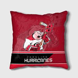 Подушка квадратная Carolina Hurricanes цвета 3D — фото 1