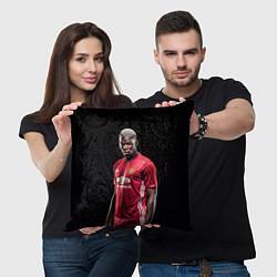 Подушка квадратная Погба: Манчестер Юнайтед цвета 3D-принт — фото 2