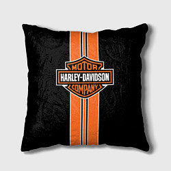 Подушка квадратная Harley-Davidson цвета 3D — фото 1