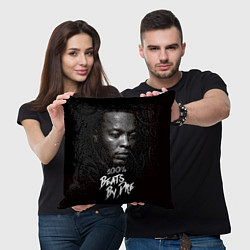 Подушка квадратная Dr. Dre: 100% Beats цвета 3D-принт — фото 2
