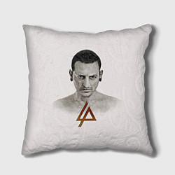 Подушка квадратная Chester Bennington цвета 3D — фото 1