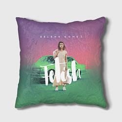 Подушка квадратная Selena Gomez: Green Fetish цвета 3D — фото 1