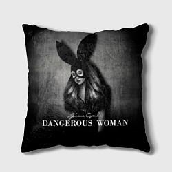 Подушка квадратная Ariana Grande: Dangerous цвета 3D-принт — фото 1