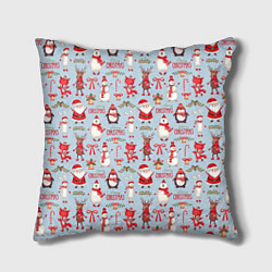 Подушка квадратная Рождественская Милота цвета 3D-принт — фото 1