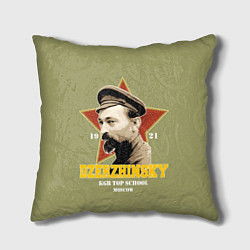 Подушка квадратная Высшая школа КГБ цвета 3D-принт — фото 1
