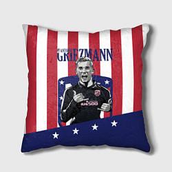 Подушка квадратная Griezmann: Atletico Star цвета 3D-принт — фото 1